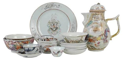 16 Assorted Chinese Export Porcelain Items