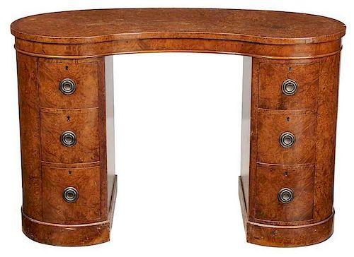 Regency Style BurlwoodVeneered Desk