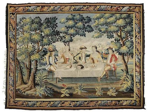 Very Large and Fine Wool Tapestry