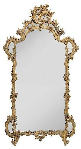 Fine Rococo Carved and Gilt Wood Mirror