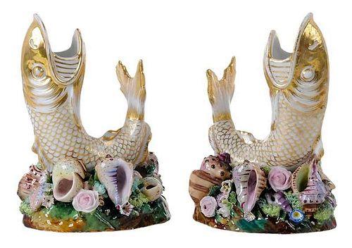 Pair of Fish Vases by Jacob Petit