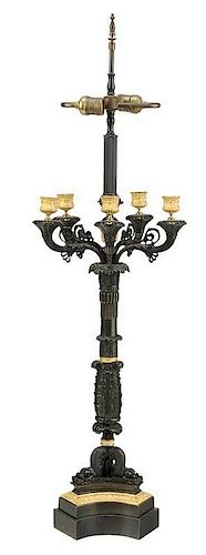 Empire Style Candelabra Lamp