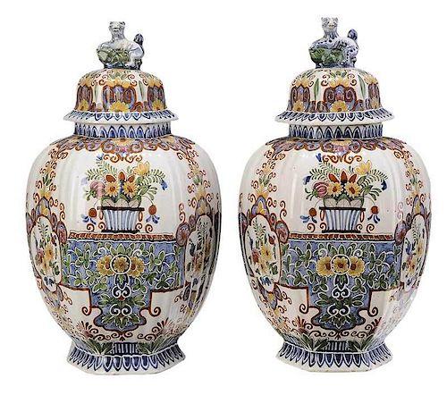 Pair of Delft Jars