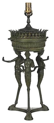 Grand Tour Bronze Lamp with Satyr