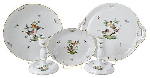 Five Pieces of Herend Rothchshild Bird