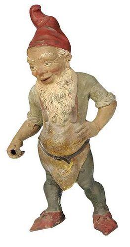 Cast Iron Garden Gnome