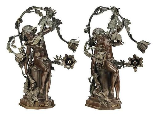 Pair of Eros Lamps