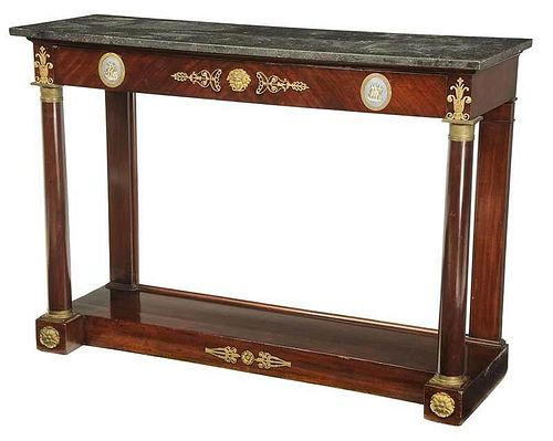 Empire Bronze Mounted Marble Top Console