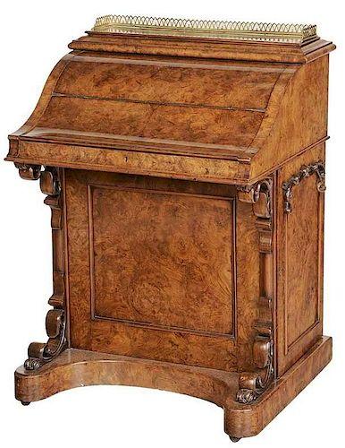 BurlwoodVeneered Davenport Desk