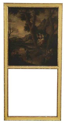 Louis XVI Gilt TrumeauMirror