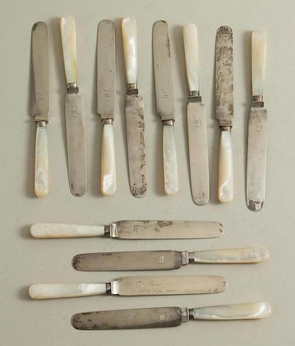 12 Mother of Pearl Handled Knives