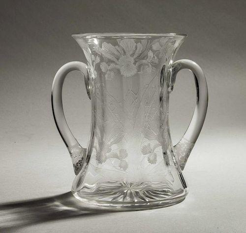 Locke Art Glass Vase in Iris Pattern