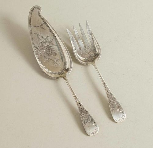Sterling Silver Fish Service, Aesthetic Movement