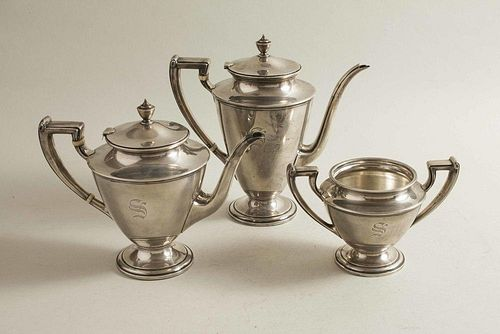 Sterling Silver Coffee/Tea Service, Whiting & Co.