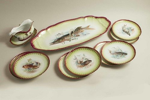 Imperial Crown China Porcelain Fish Service