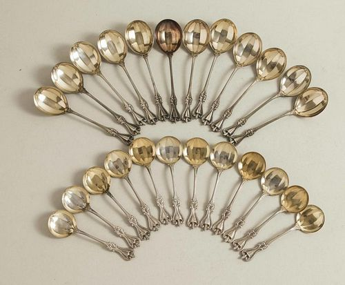 Towle Sterling Ice Cream & Chocolate Spoons, Old Colonial Pattern