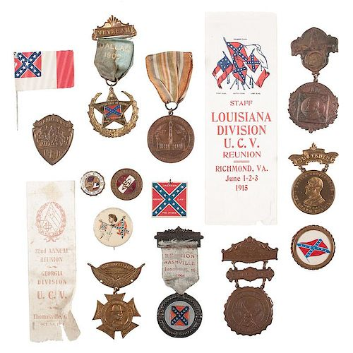 United Confederate Veterans, Collection of Reunion Badges