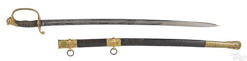 Christopher Roby & Co Civil War presentation sword