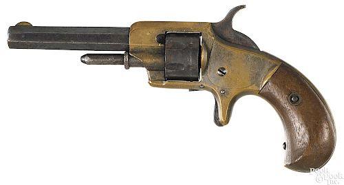 Whitneyville No. 1 brass frame seven shot revolver