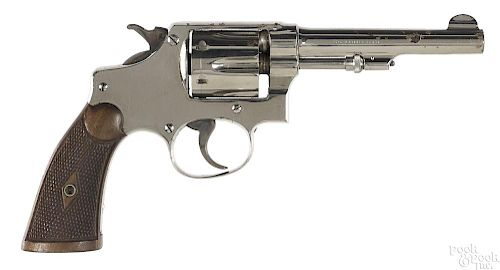 Smith & Wesson nickel plated revolver