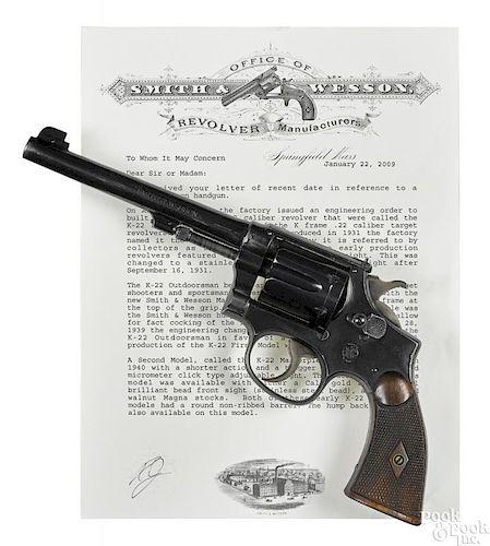 Smith & Wesson model K-22 ''Outdoorsman'' revolver