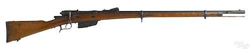 Italian Vetterli bolt action Brescia rifle