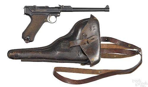 Excellent DWM 1916 WWI German artillery Luger