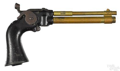 Hawley brass barrel air pistol