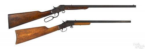 Two .22 caliber single shot takedown boys rifles