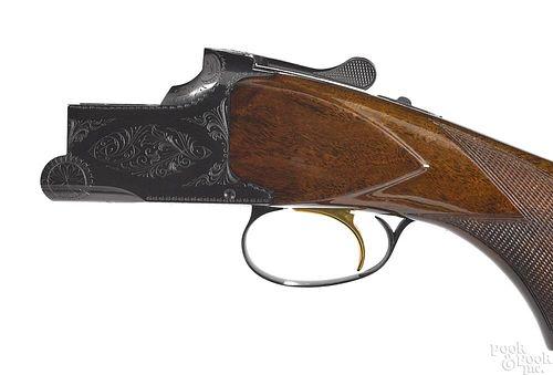 Cased Belgium Browning Lightning shotgun