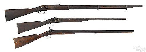 Two percussion shotguns
