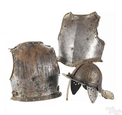 Cromwellian half suit of armor