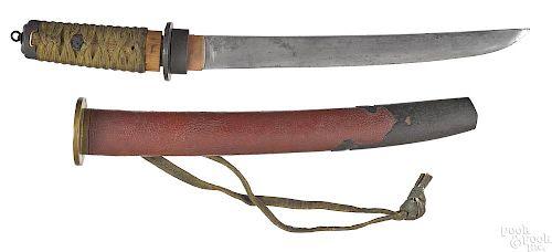 Japanese tanto sword with saya