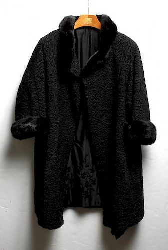 df9f825d74ac Vintage Persian Lamb Coat with Fur Trim, Woman's by Showplace ...