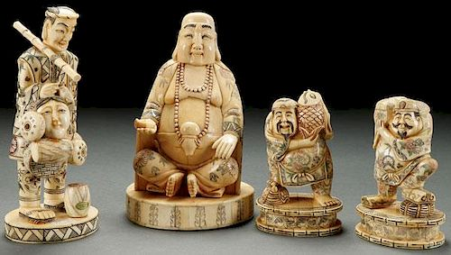 A Group Of Four Chinese Carved Bone Figures By Jackson S International Auctioneers And Appraisers 953320 Bidsquare
