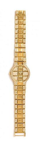 An 18 Karat Yellow Gold and Diamond Wristwatch, Concord, 62.40 dwts.