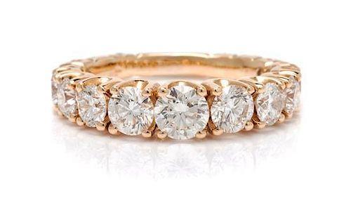 An 18 Karat Rose Gold and Diamond Ring, Crivelli, 4.10 dwts.