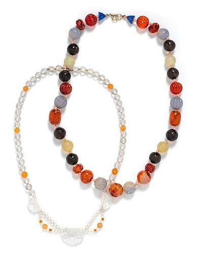 * A Collection of Bead Necklaces,