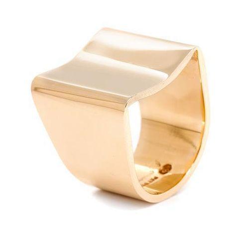 A 14 Karat Yellow Gold Modernist Ring, 11.20 dwts.