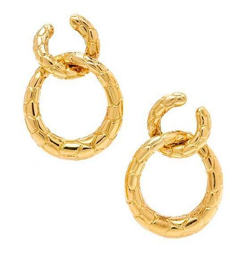 A Pair of Yellow Gold Earclips, French, 24.00 dwts.