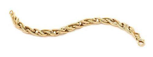 A 14 Karat Yellow Gold Bracelet, Italian, 29.70 dwts.