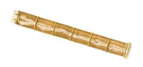 * An 18 Karat Yellow Gold Woven Bracelet, Roberto Coin, 22.50 dwts.