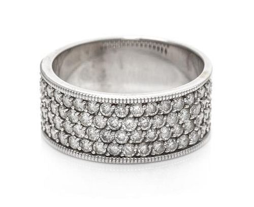A White Gold and Diamond Ring, 4.50 dwts.