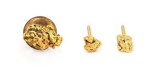 A Collection of Gold Nugget Jewelry, Circa 1959, 2.70 dwts.