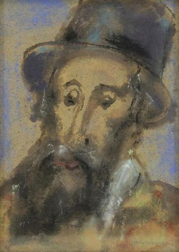 WEBER, Max. Watercolor and Pastel. Portrait of a