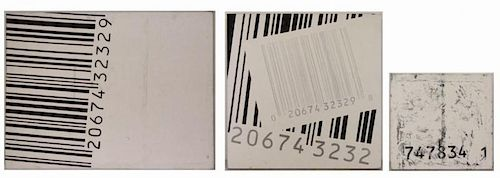COTTEN, George. Three Oil on Canvas. Barcodes