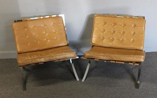MIDCENTURY. Pair of Barcelona Style Chairs.