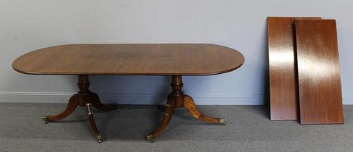 Regency Mahogany Twin Pedestal Dining Table