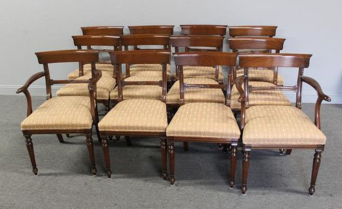 Set of 12 Custom Quality Regency Style Mahogany