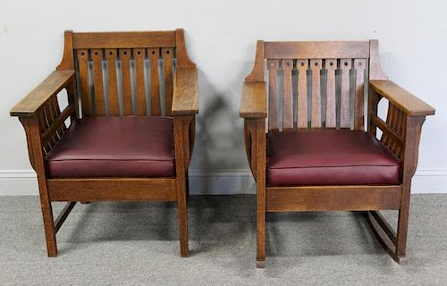 Attributed To Liberty and Co Oak Arts and Crafts